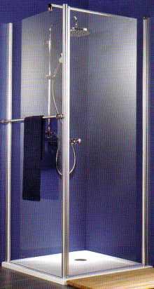 Duschwand EXCLUSIV Drehtür Breite 80 cm mit Seitenwand