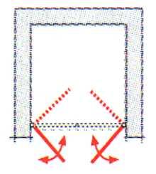 duschabtrennung nische mit pendelt r exklusiv breite 75 100 cm. Black Bedroom Furniture Sets. Home Design Ideas