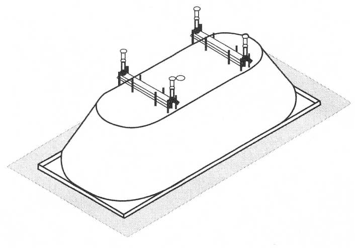 1. Montage Fußgestell