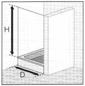 Masszeichnung Dreh-Falttür mit Festelement EXKLUSIV für Nische, Höhe bis 200 cm - Maßanfertigung