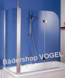 Duschwand EXKLUSIV für die Badewanne zweiteilig mit Seitenteil 70