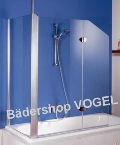 duschabtrennung badewanne zweiteilig mit seitenteil ma anfertigung f r montage unter einer. Black Bedroom Furniture Sets. Home Design Ideas