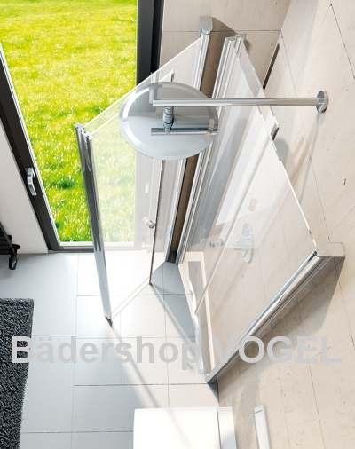 Duschabtrennung mit profil drehfaltt ren 4 teilig fensterl sung h he bis 210 cm - Schwenkbare duschwand ...