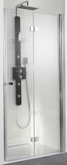 Duschabtrennung mit Falttüren bis 200 cm Nischenbreite anzeigen