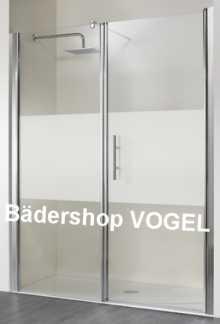 Dusche mit Drehtür und Festelement für Nische bis Breite 200 cm anzeigen