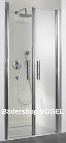Duschabtrennung Nische mit Pendeltüren, Nischenbreite bis 200 cm anzeigen