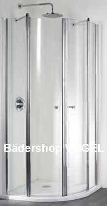 Dusche rund mit 2 Türen und 2 Festelementen anzeigen