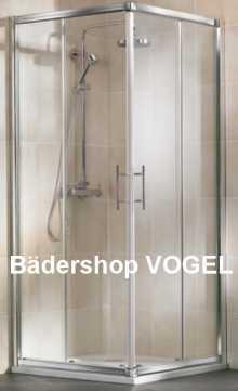 Dusche Eckeinstieg mit Schiebetüren anzeigen