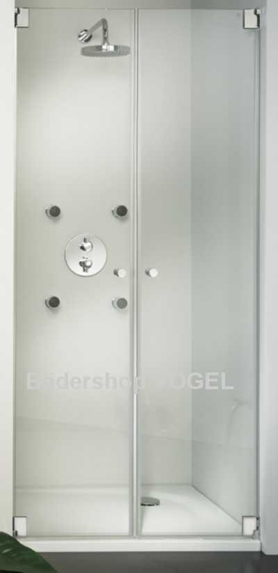 dusche neben badewanne mit pendelt r kienle mit verk rztem seitenteil ma anfertigung. Black Bedroom Furniture Sets. Home Design Ideas
