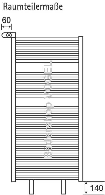 Raumteiler-Montageset für Heizkörper LINE