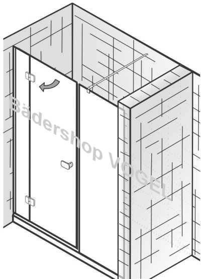 duschwand mit dreht r premium breite 160 cm f r nischeneinbau. Black Bedroom Furniture Sets. Home Design Ideas