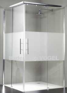 Dusche Eckeinstieg mit Gleittüre SOLIDA Breite 100 cm barrierefrei