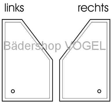 duschwanne f nfeckig circi 100x90 asymmetrisch acryl. Black Bedroom Furniture Sets. Home Design Ideas