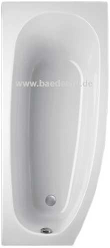 Raumsparbadewanne BOMBAX 160 x 75 Raumspar Wanne/ Eck- Badewanne